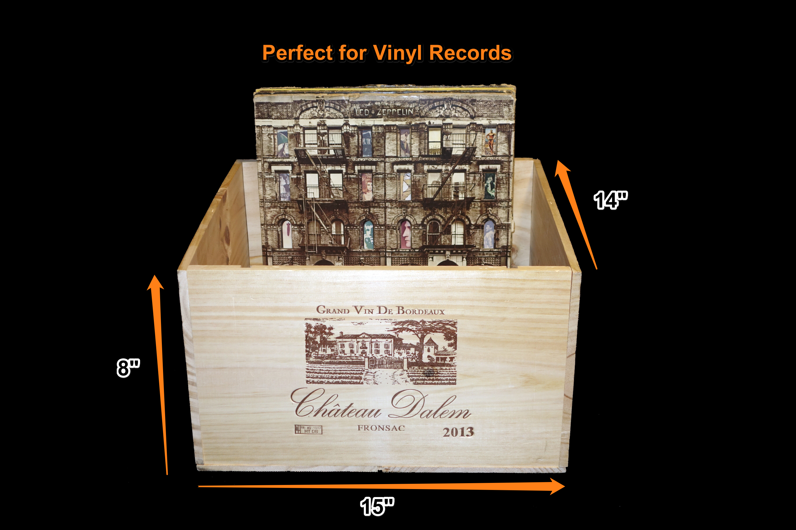 How To Store Vinyl Records In A Wine Box Wine Box Wine Crate Store Vinyl Records