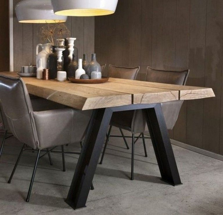 24 Top Modern Industrial Dining Furniture Set Design And
