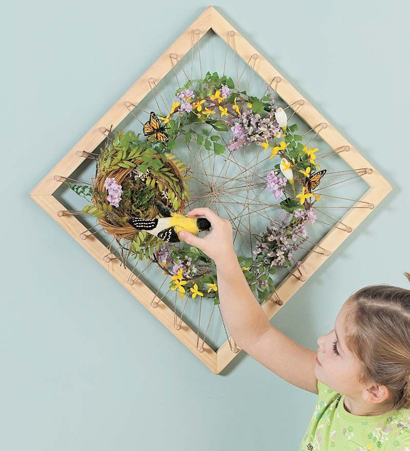 Nature collage art frame this is such a great idea we for Crafts made from nature