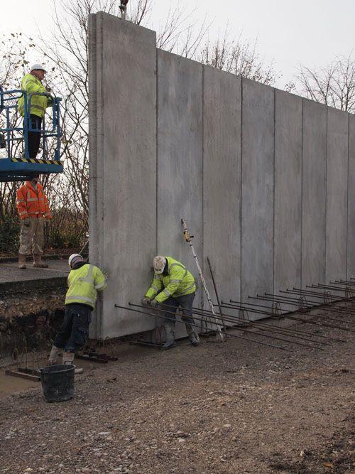 Precast Concrete 280mm Thick Superwall Panels Precast
