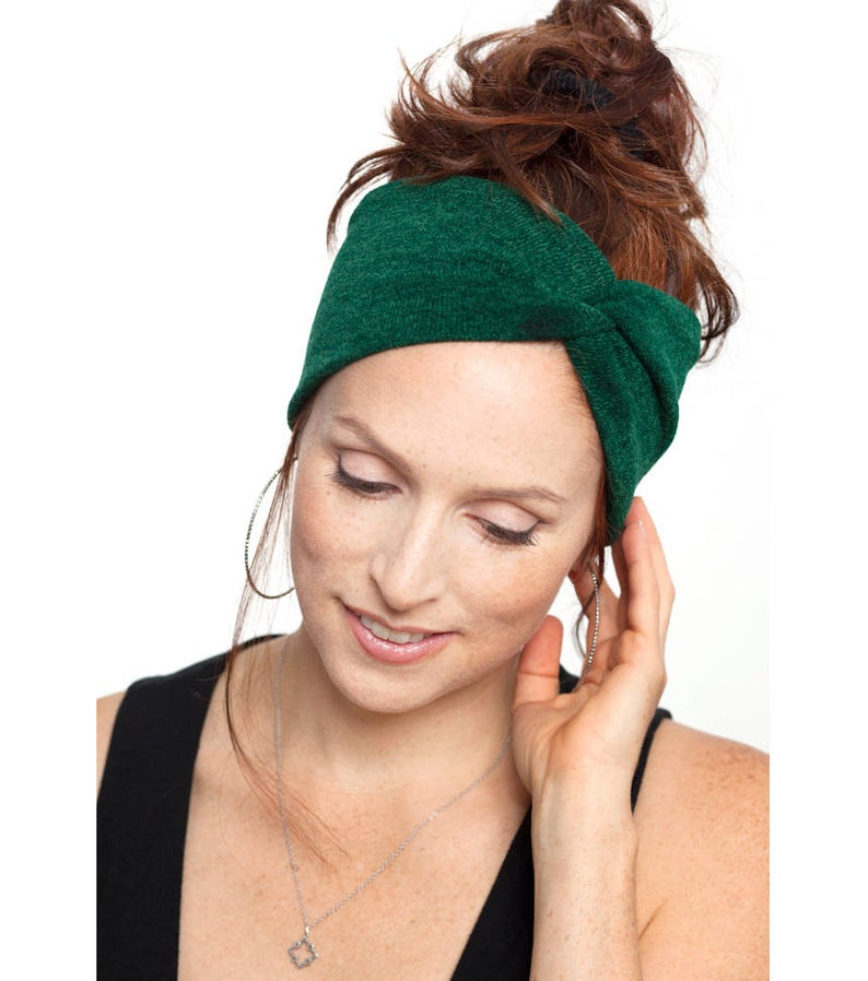 Emerald Green Knit Turban Knit Headband Yoga Headband Green Headband Dark Green Turban Womens Hair Accessories Knit Hat Winter Headwrap :  Emerald Green Knit Turban Knit Headband Yoga Headband Green | Etsy  #accessories #dark #Emerald #green #hair #Hat #Headband #Headwrap #knit #Turban #Winter #Womens #Yoga #yogaheadband