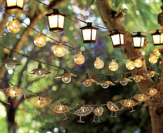 ♥ Garten Party Beleuchtung Ideen Laterne  kreative Figuren