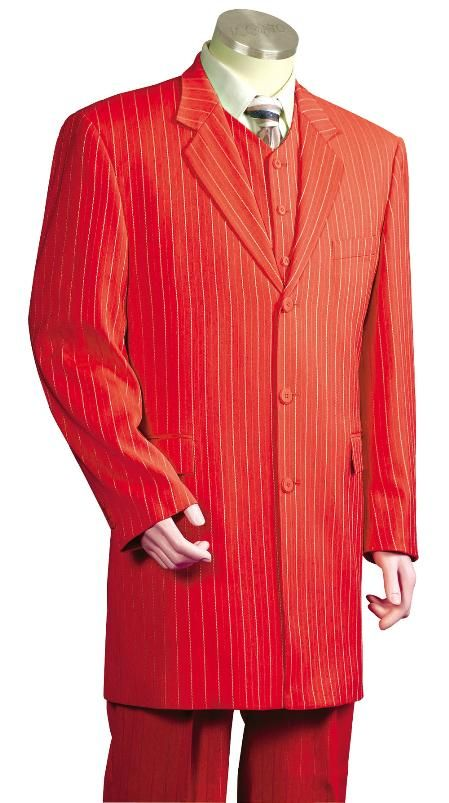 Men\'s #Fashionable #3 #Piece #Zoot #Suit #Red for #$225 also known ...