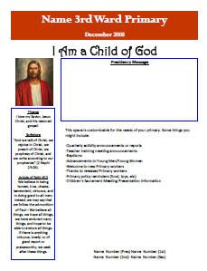 primary newsletter page 1 primaria pinterest lds primary