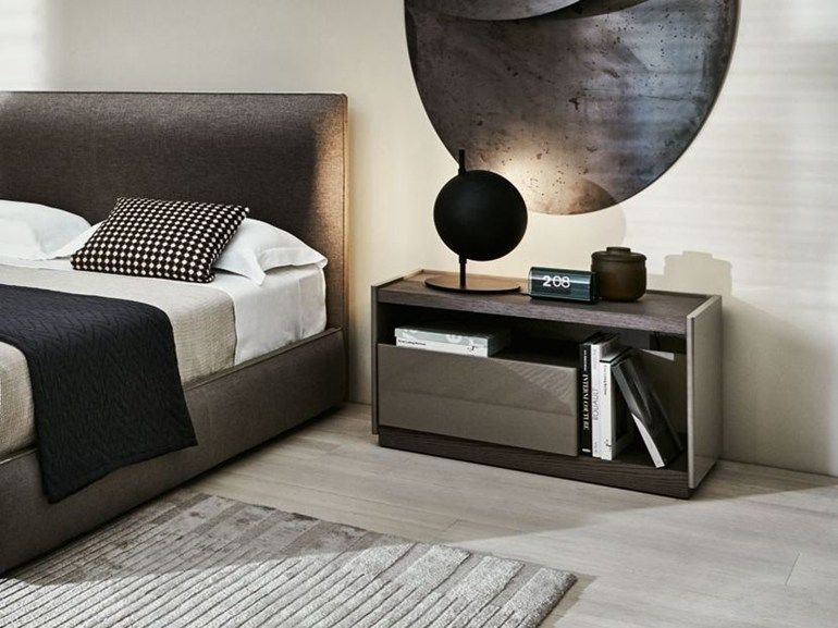 Wooden Bedside Table With Drawers 5050 Bedside Table Molteni