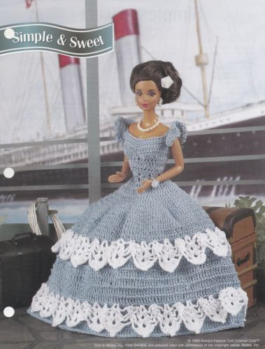 Simple & Sweet, Annie\'s Crochet Fashion Doll Clothes Pattern Leaflet ...