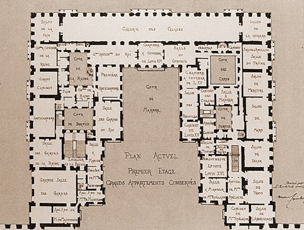 First Floor Plans _ Versailles | French architecture ...