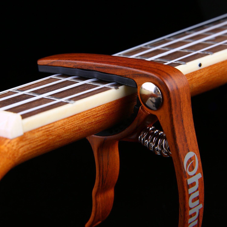 Amazon Com Wooden Acoustic Guitar Capo 9 99 Guitar Capo Electric Guitar Capo Acoustic Guitar Capo