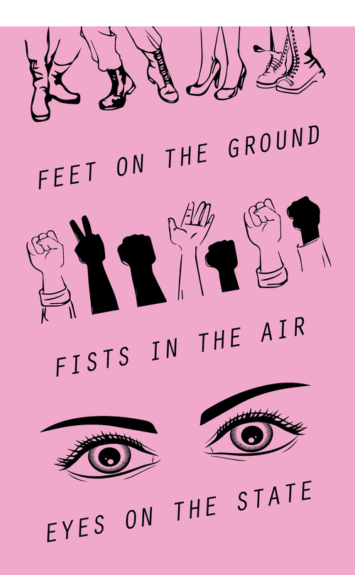 Feet Fist Eyes By Ariana Mygatt Print Organize Protest Protest Art Black Lives Matter Art Protest Posters