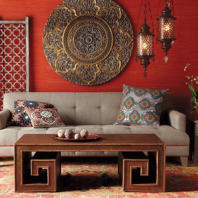 Love the Wall piece.......Living Room decor moroccan Design Ideas ...