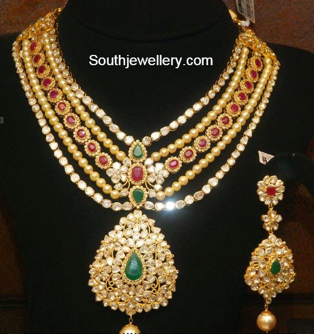 Indian Gold Jewellery Necklace Sets Google Search: Uncut Diamond Necklace Sets Malabar Gold