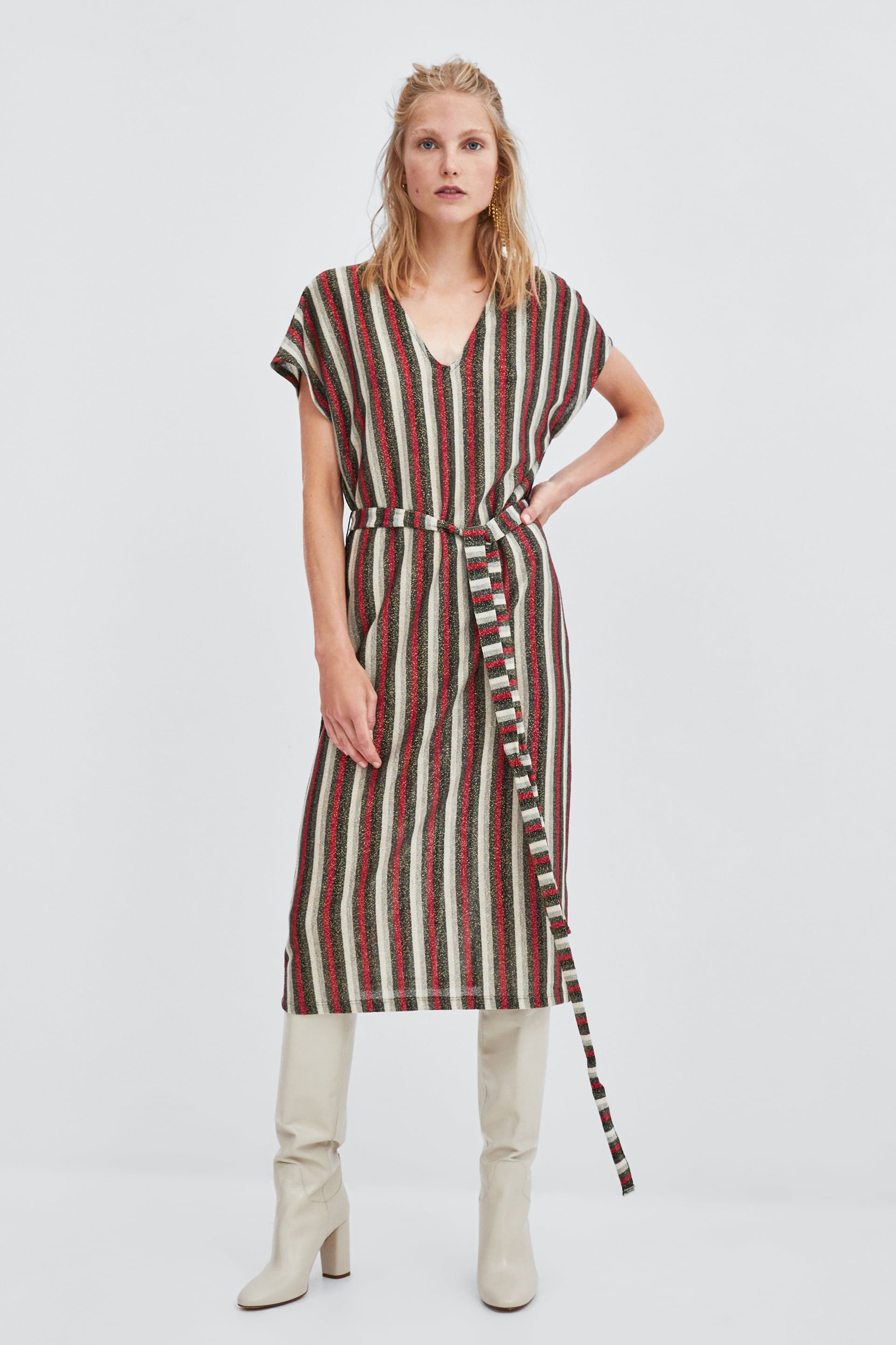 e542ae97 Image 1 of TEXTURED DRESS from Zara | clothes | Dresses, Summer ...