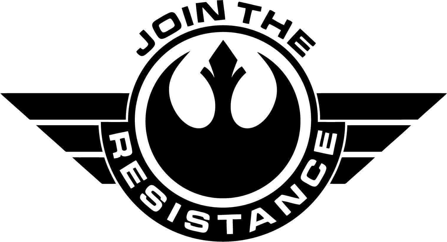 Star Wars Join The Resistance Badge Vinyl Car Window And Laptop Decal Sticker Starwarstattoo Star Wars Stencil Star Wars Stickers Star Wars Decal [ 823 x 1515 Pixel ]