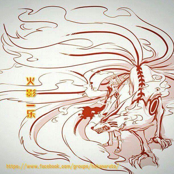 Naruto Nine Tail Fox Naruto Drawings Nine Tailed Fox Naruto Nerd Tattoo