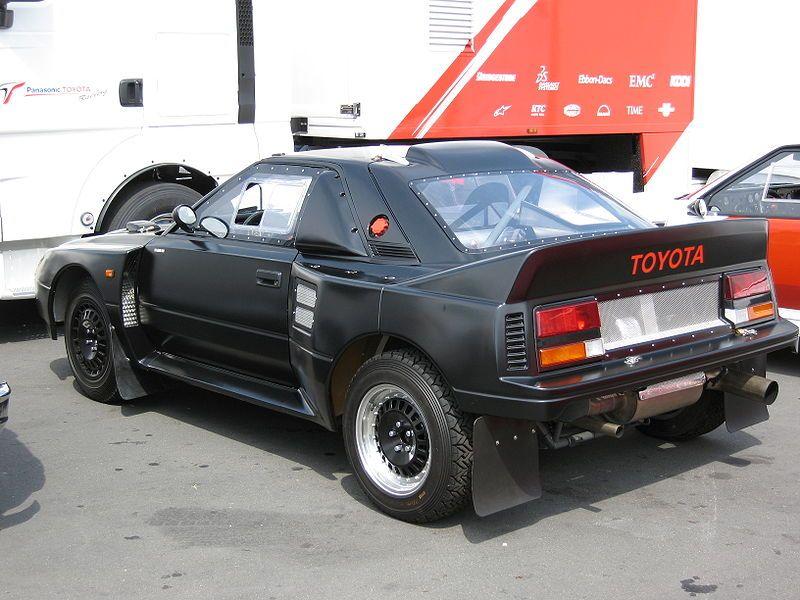 Toyota MR2 Group B < 750BHP, 1700lbs. Tiny wheelbase. Aw. Yeah ...