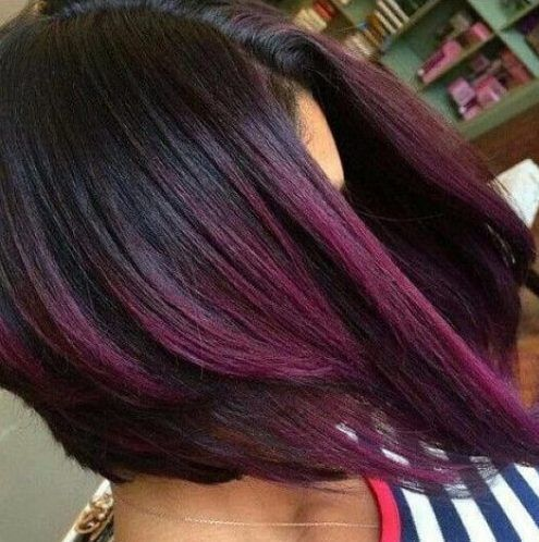 50 Sweet Plum Hair Color Ideas Hairstyle Fix Hair Color Plum Plum Hair Short Hair Styles