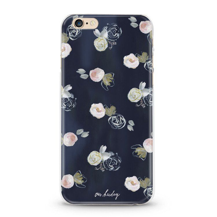 Blue florals phone case our heiday phone cases cute