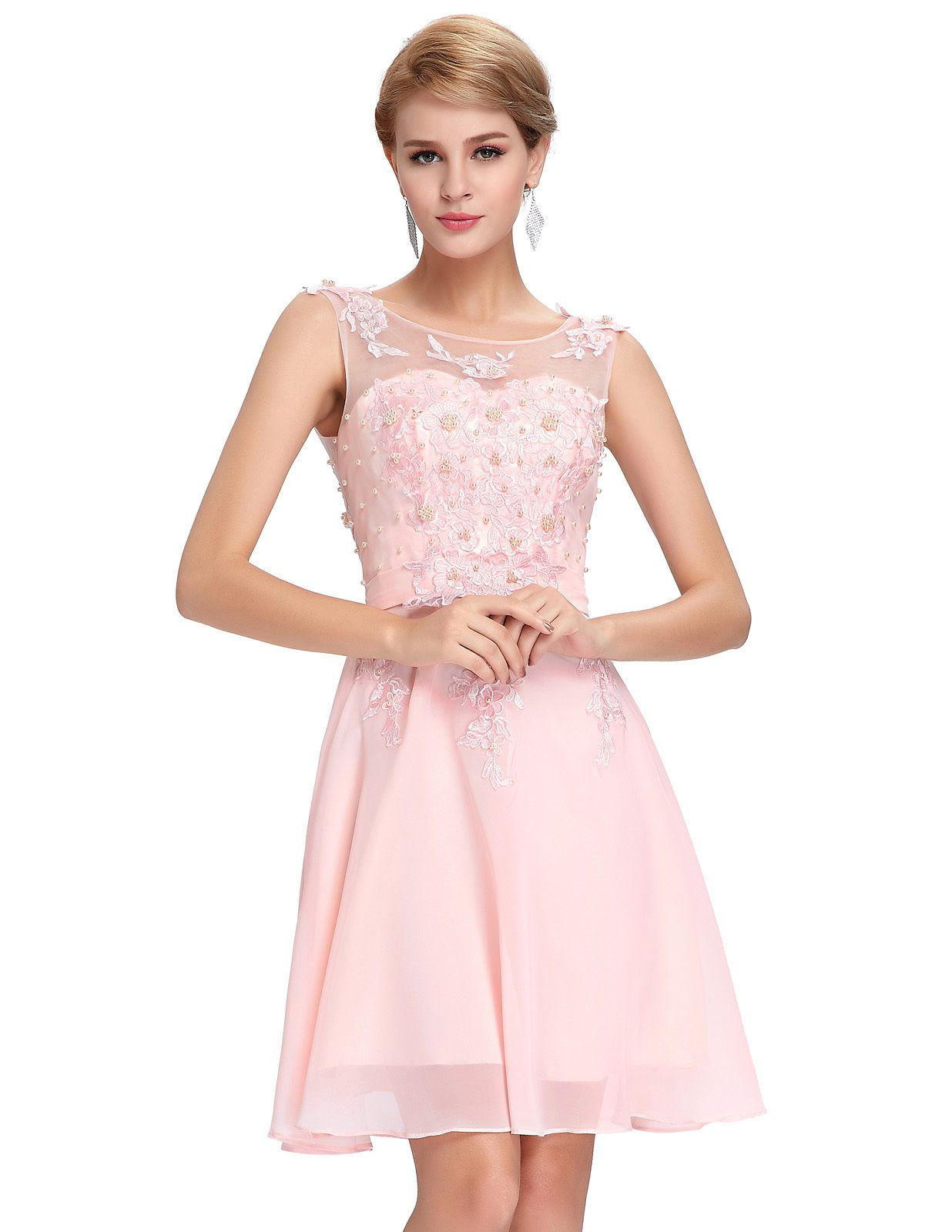 Awesome great gk beaded floral chiffon bridesmaid ball gowns