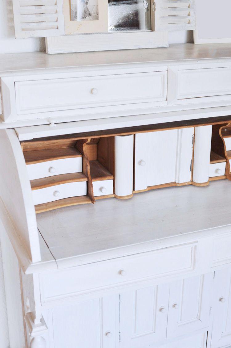 DIY: Alte dunkle Möbel mit weißer Farbe streichen | Dunkle möbel ...