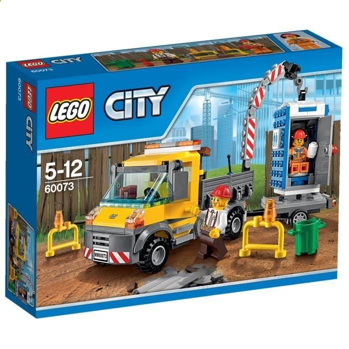 #BonPlan #Jouets #Cdiscount ❤ #LEGO - #LEGOCity 60073 Le #Camion #Grue - Amuse-toi avec le camion grue, comprenant un camion avec une grue, une remorque, des toilettes portables, 2 figurines et des accessoires .. en 233 pièces à partir de 5 ans ! plus.google.com/...