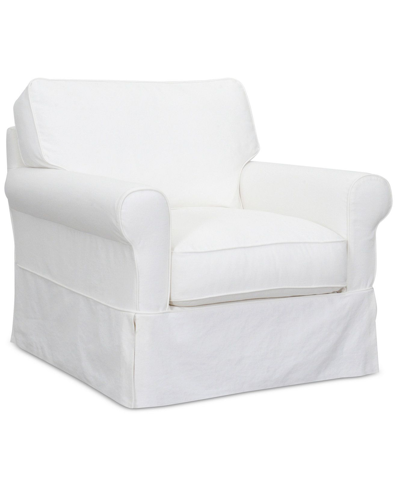 Leanne Fabric Slipcover Chair Chairs & Recliners Furniture
