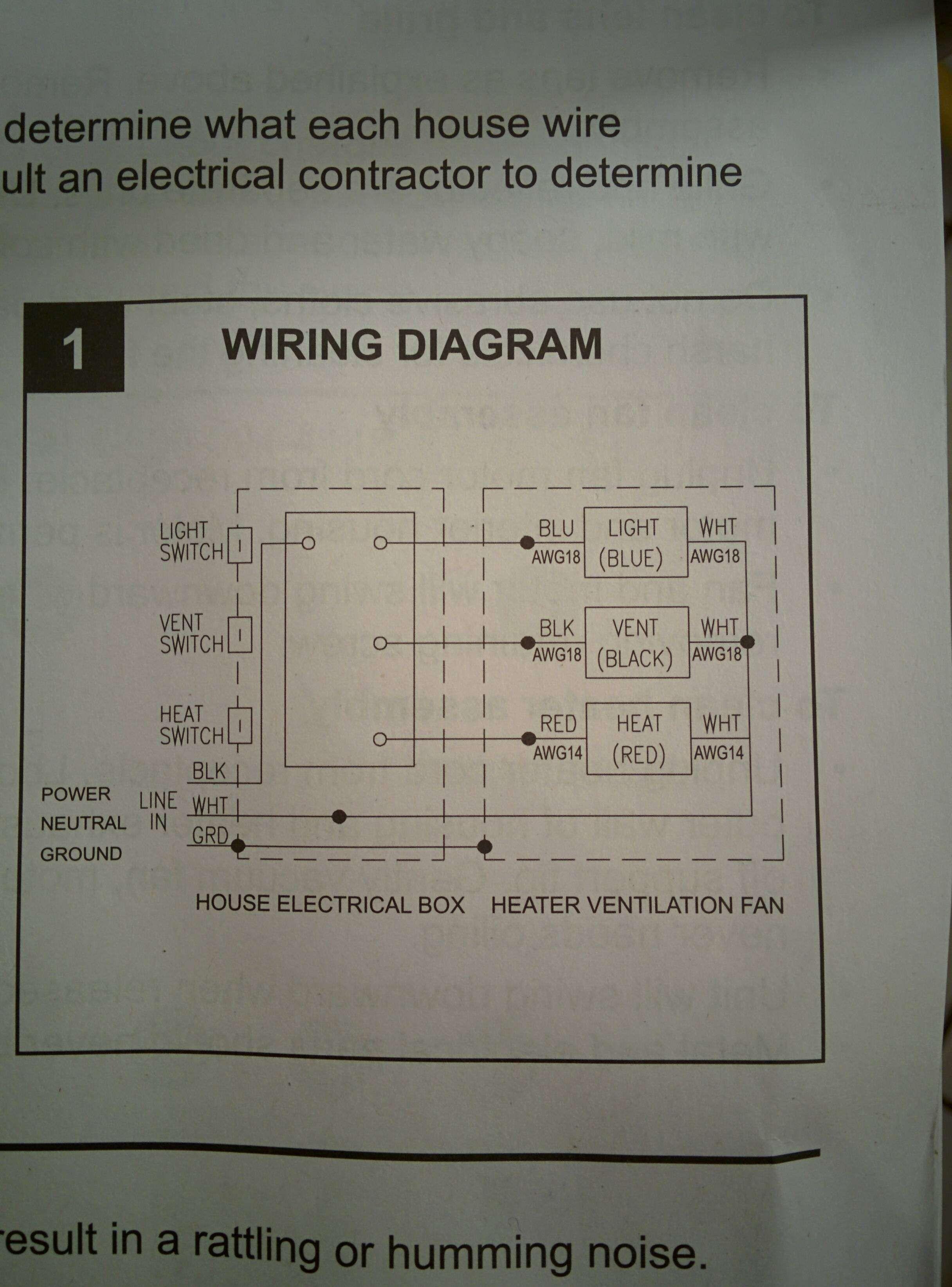 Wiring Diagram Bathroom Bathroom Heater Bathroom Light Fan