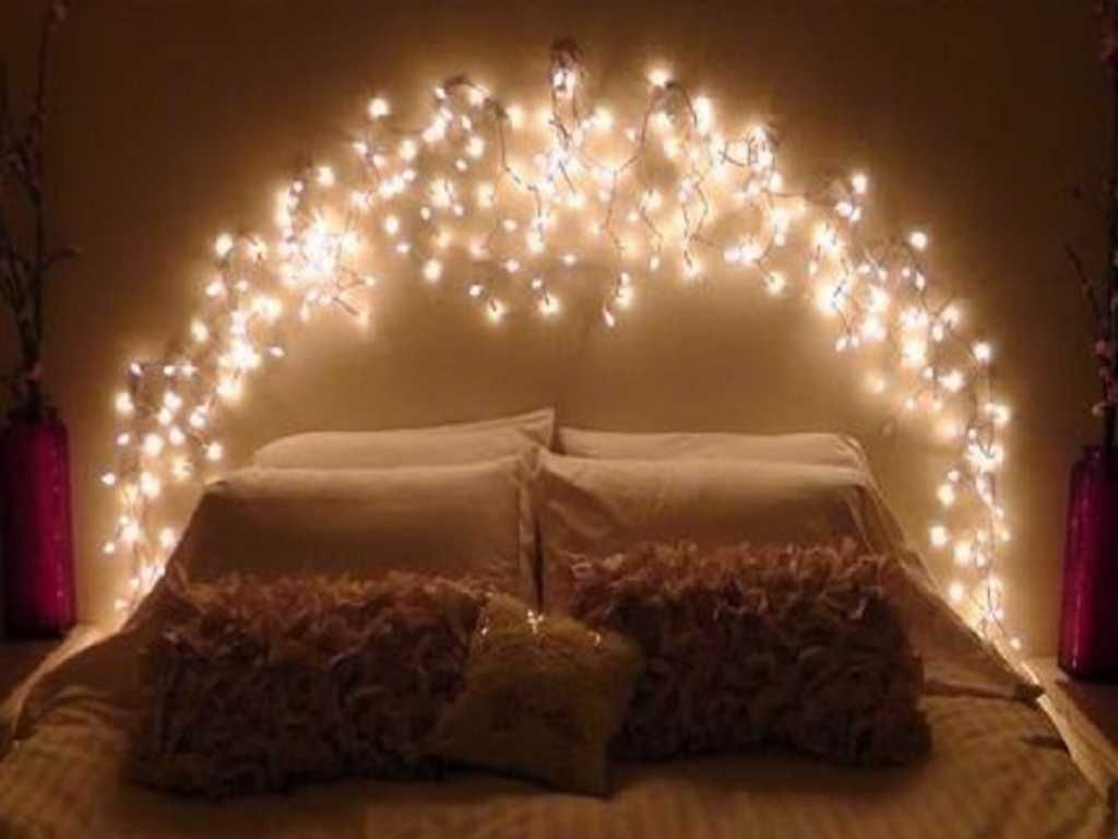 Bedroom : Fairy Lights Bedroom Featuring Christmas Decorations Diy ...