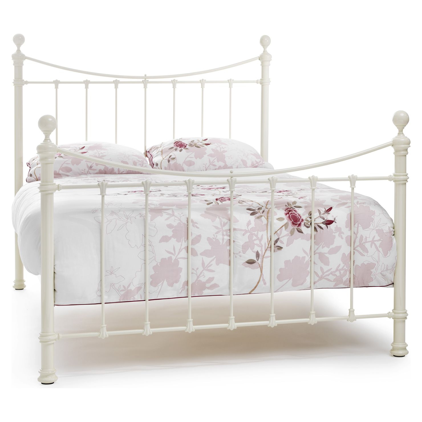 Ethan King Metal Bed Frame, Ivory, Choose Set | Bed | Pinterest