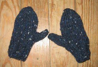 Two Needle Mitten Knitting Pattern   Knitted mittens ...