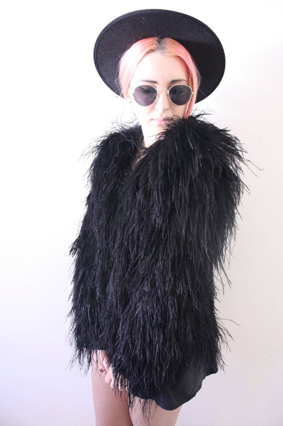 WAS $349, NOW $279!!!!      - Absolutely amazing Topshop vintage inspired piece  - Fully covered in fluffy ostrich feathers  -…