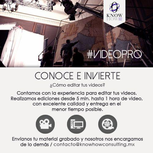 ¿Quieres editar un video y no tienes tiempo?   Conce nuestro servicio #VIDEOPRO by @KHCMX