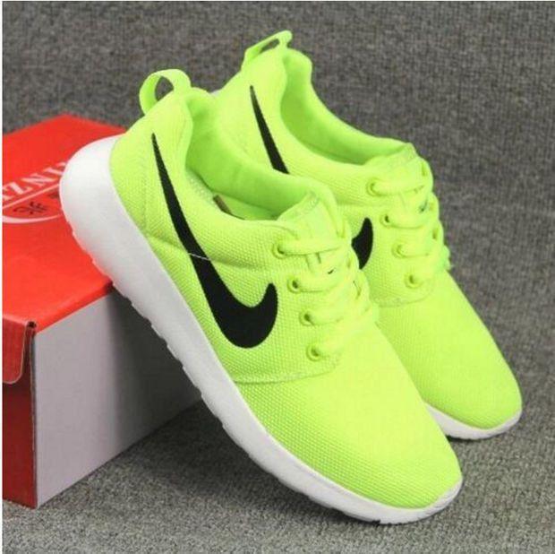 new concept 7d78e dd871 NIKE Women Men Running Sport Casual Shoes Sneakers Fluorescence green