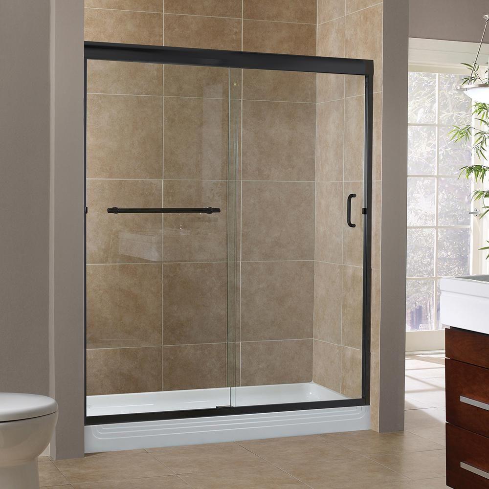 Foremost Marina 60 In X 72 In H Semi Framed Sliding Shower Door