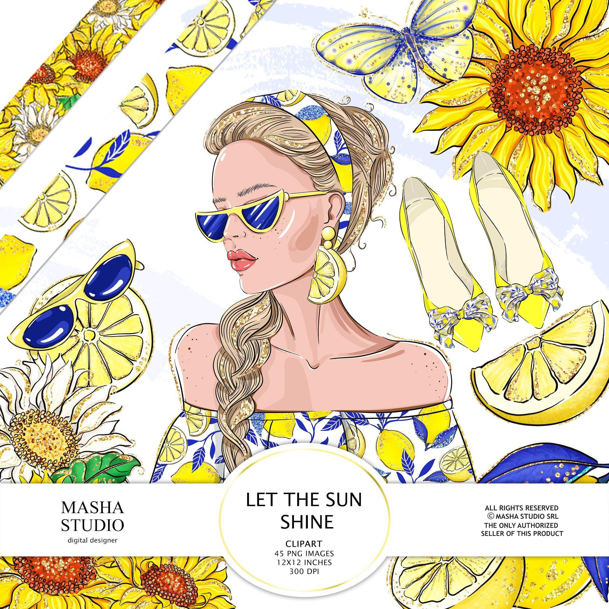 Spring Summer Clipart Sunflower Clipart Lemon Clipart ...