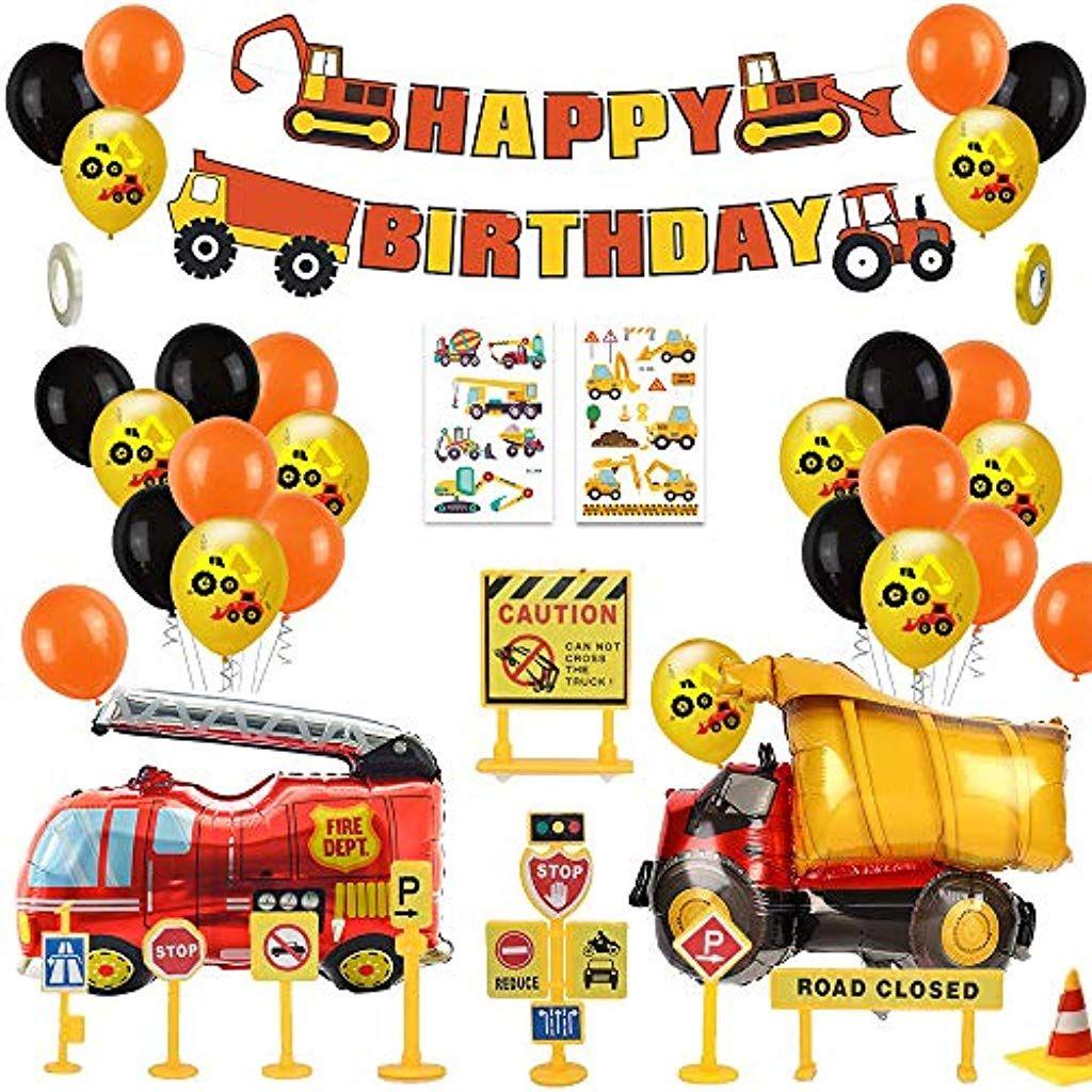 Mmtx Bagger Kinder 2 Jahre Happy Birthday Deko Luftballons