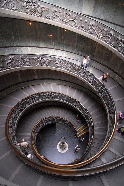 grand spiral stairway
