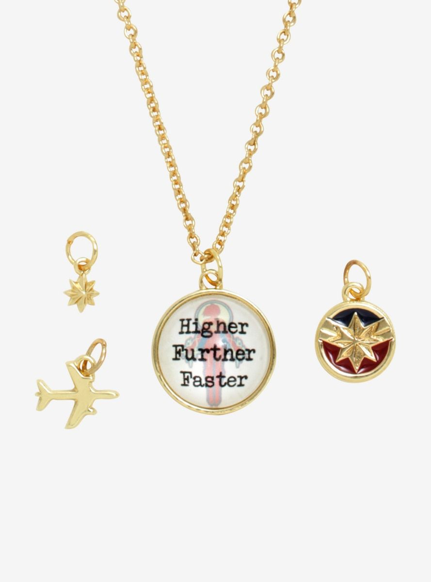 marvel captain marvel multi charm necklace in 2019   products