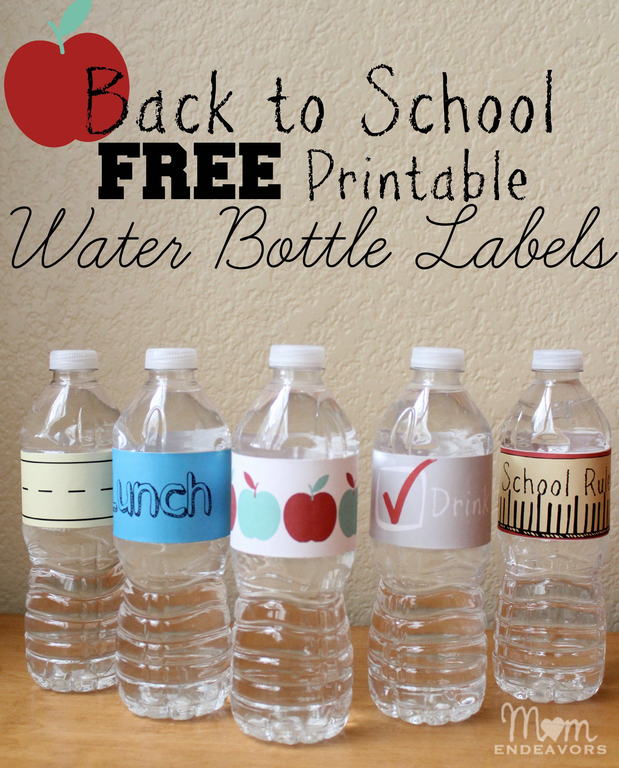 Easy & fun drink ideas for school lunches, with FREE school themed ...