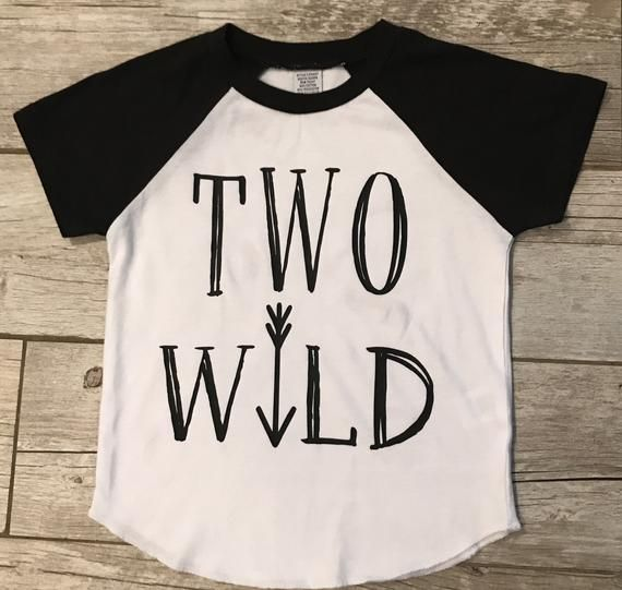 Two Wild 2nd Birthday Boys Shirt Too Tee One Shi
