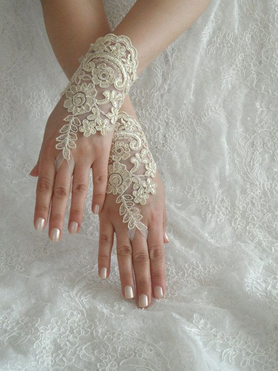 FREE SHIP Wedding Gloves lace gloves Fingerless by WEDDINGHome, $25.00