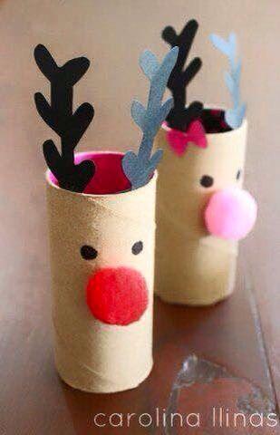 Renos Con Rollos De Papel Actividades Navidenas Para Ninos Manualidades De Navidad Para Ninos Manualidades Navidenas