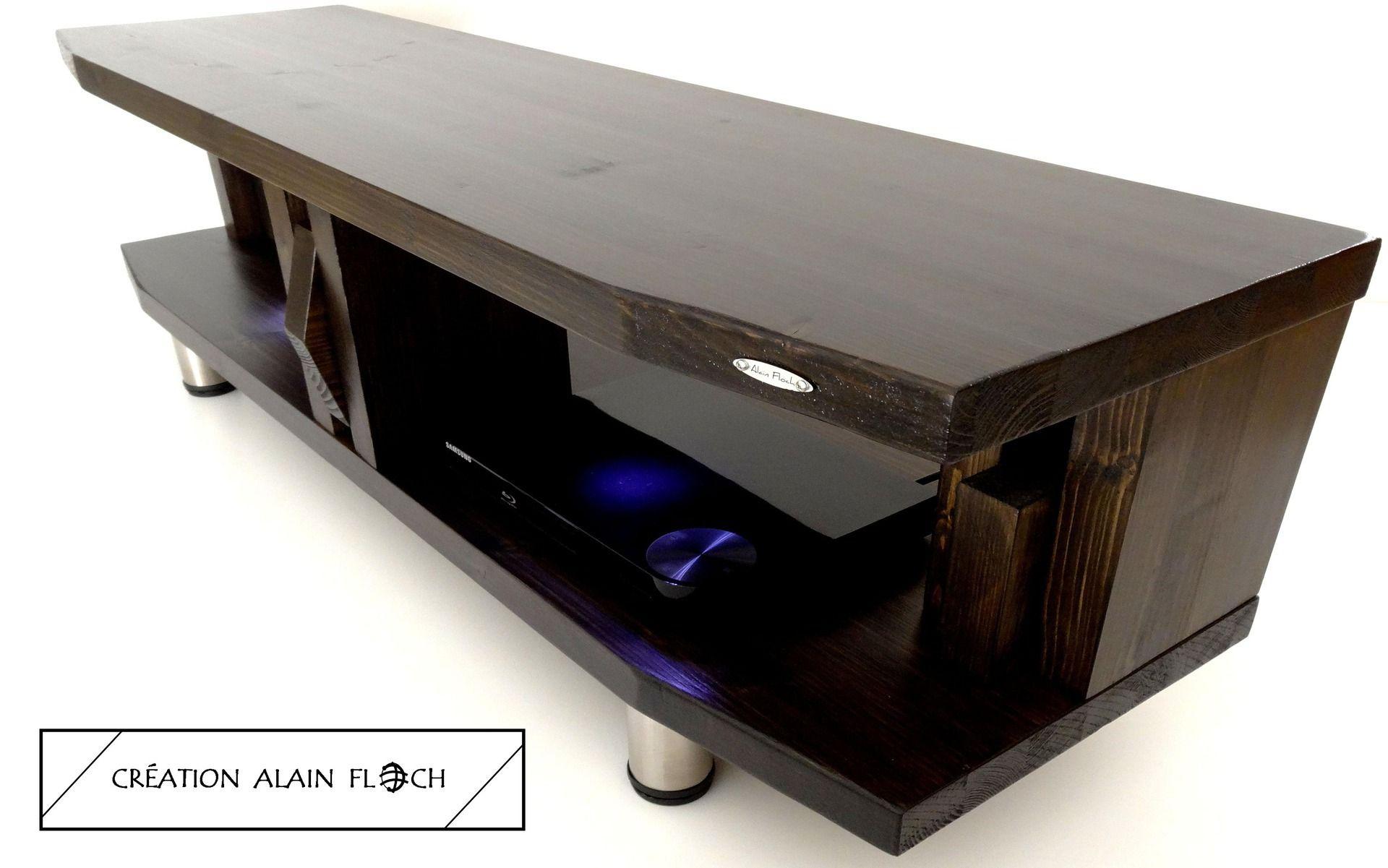 Meuble Tv Design Nose Avec Eclairage Led Sans Fil Meuble Tv  # Meuble Tv Avec Lumiere Led