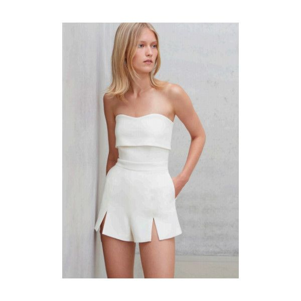 d4f9b20c3049 Alexis - Kia Romper - Off White ( 326) ❤ liked on Polyvore featuring  jumpsuits