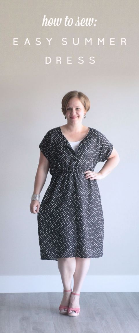 da39ad5c07a3 the easy tee dress in a woven  simple summer sew