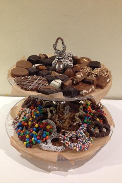 Elegant 2 Tier Candy & Chocolate Platter