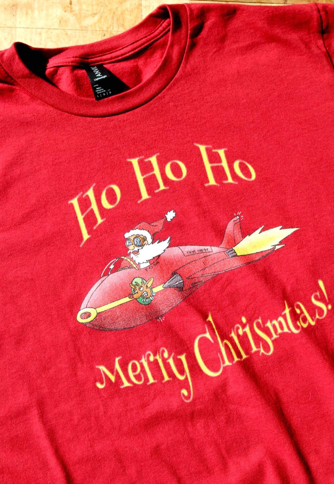 Black keys t shirt etsy - Santa In A Jet Christmas T Shirt From Jimmo Designs