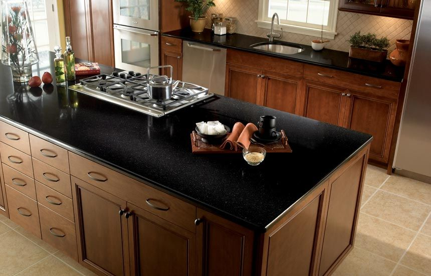 Black Quartz Kitchen Countertops Ideas Amazing 716611