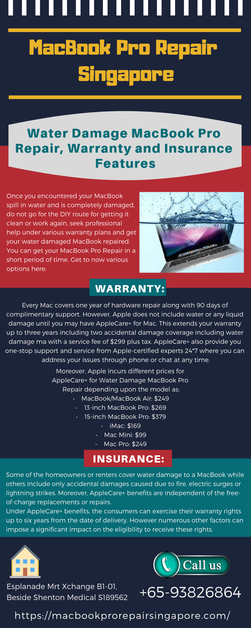 Water Damage MacBook Pro Repair, Warranty and Insurance