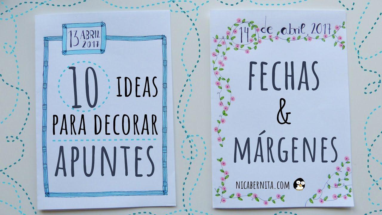 10 ideas para decorar apuntes cuadernos o agendas fechas - Marcos para decorar ...