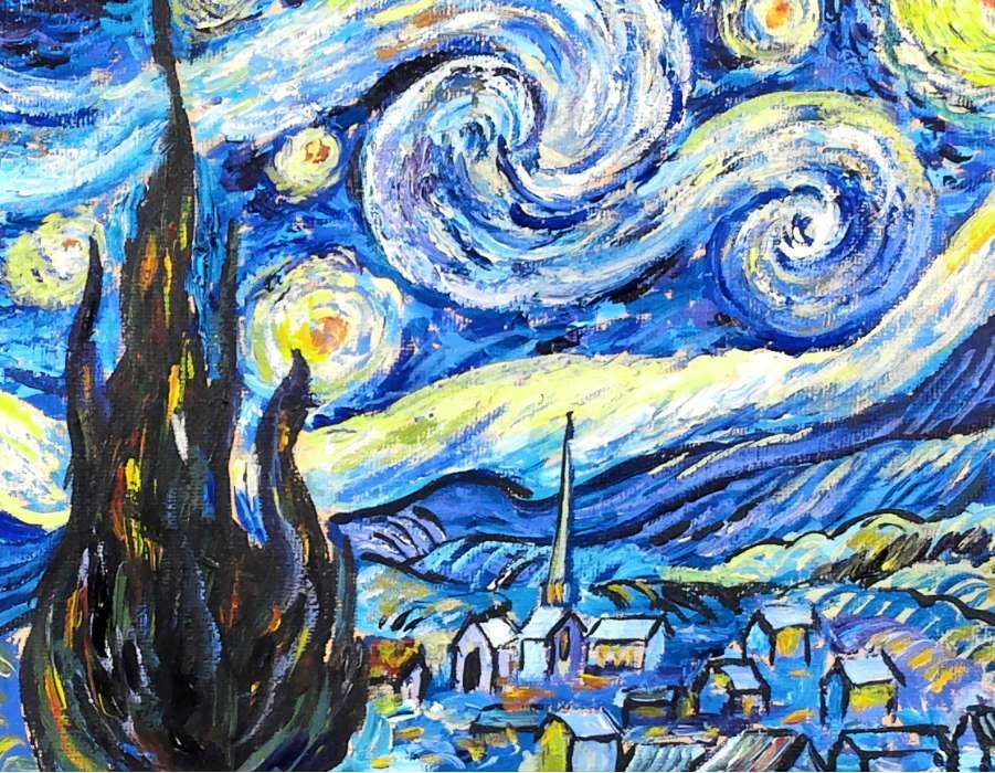 Step By Step Van Gogh S Starry Night Acrylic Painting Tutorial